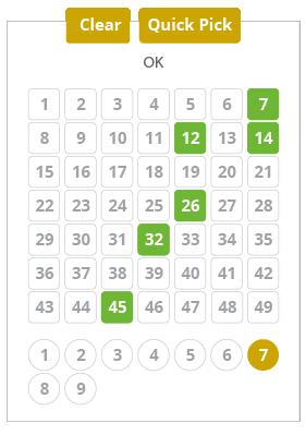 lotto-am-mittwoch - imagen selector de números